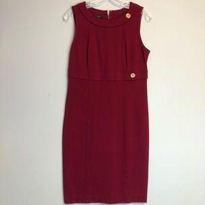 TALBOTS Red Sleeveless Career Dress